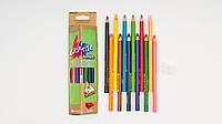 Цветные карандаши MARCO GRIP-RITE. В коробке 12 карандашей и точилка