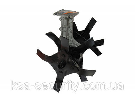 Насадка-культиватор для мотокосы штанга D=28 мм, 9 шлицов, фото 2