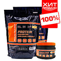 Протеин для роста мышц BL Nutrition Whey Protein + Креатин в подарок комплекс 4 кг., фото 1