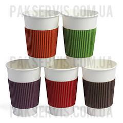 Термочехол кольоровий клеєний для склянки 250-340мл 1/1000
