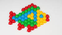 Детская мозаика-пазл ТехноК Коврик. В наборе 80 деталей