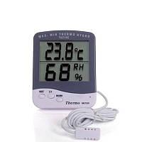 Цифровой термометр влагомер (гигрометр) для инкубатора с выносным датчиком 1.5 м и подставкой