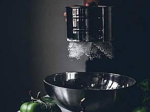 Сито для муки из нержавеющей стали 10*9,3 см, емкостью 350 гр, фото 2