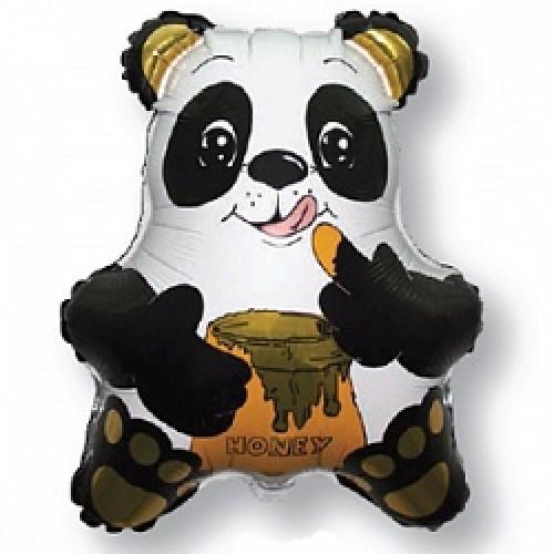 "Фольгована кулька велика фігура Панда з медом 22"" Flexmetal"