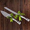 Набор нож и лопатка для свадебного торта (оливковый цвет)