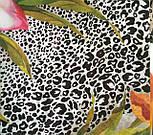 Шелковое прикосновение 10010-2, павлопосадский платок (крепдешин) шелковый с подрубкой, фото 4