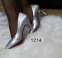 Женские туфли серебистые, фото 1
