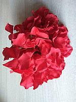 Гортензия голова красная для декора и рукоделия