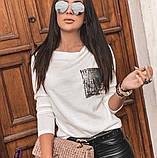 Женская кофта с карманом,размеры:42-44,46-48., фото 4