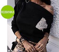 """Женская кофта с карманом """"Story"""", фото 1"""