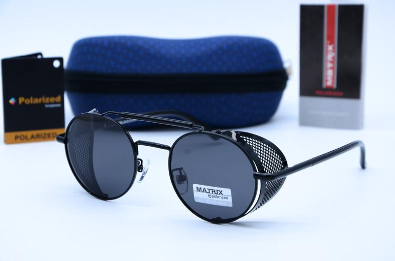 Солнцезащитные круглые мужские очки Matrix 8559 c10