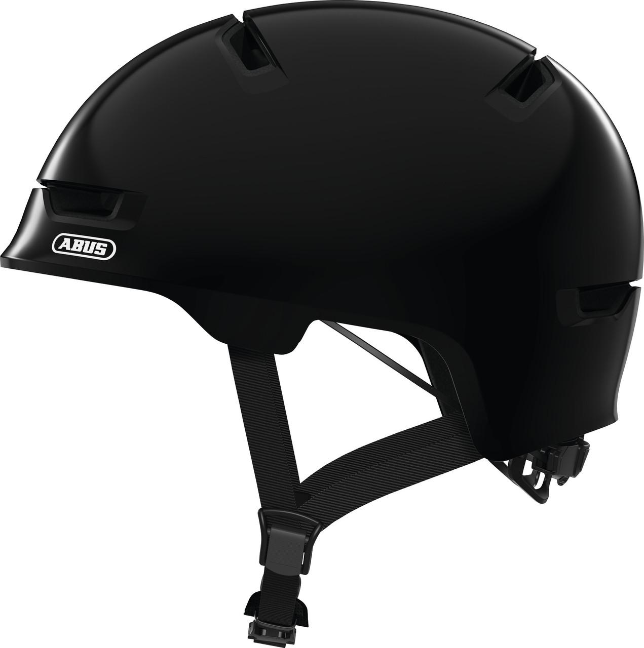 Велошлем детский ABUS SCRAPER 3.0 KID Shiny Black M (54-58 см)