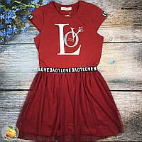 Легкое хлопковое платье для девочек 140-152 рост
