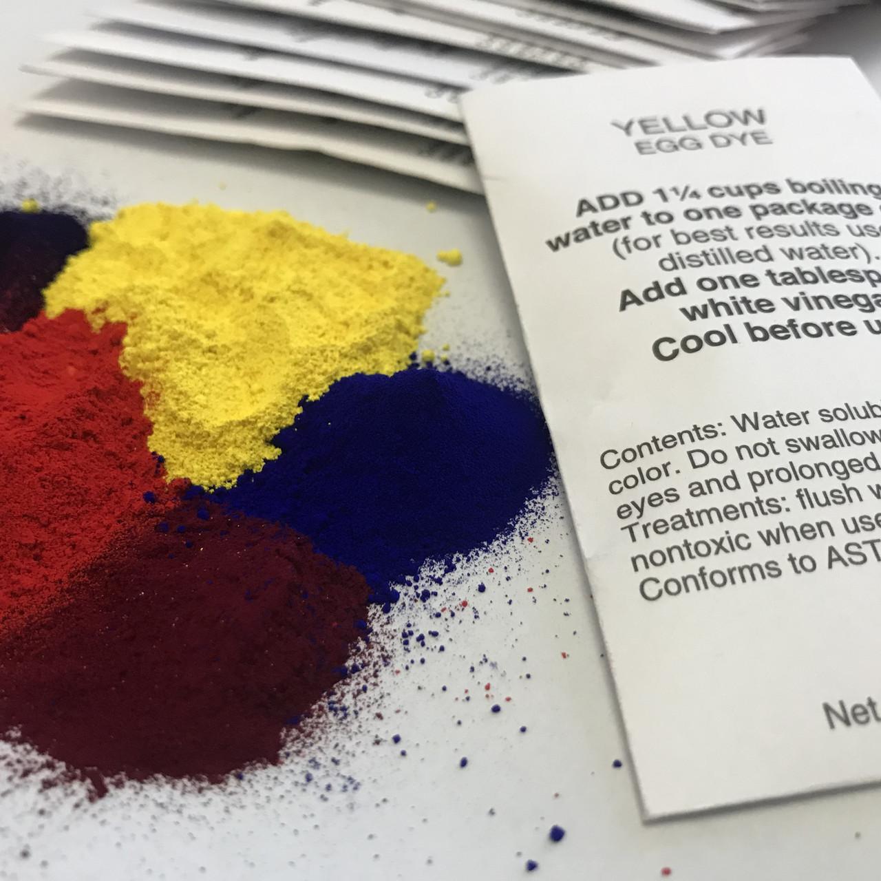 Набір з 17 американських анілінових барвників для писанок