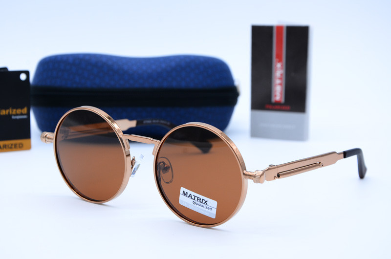Солнцезащитные круглые мужские очки Matrix 8562 с8
