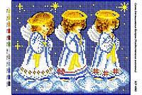 Схема для вышивания бисером - Рождественские ангелочки