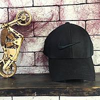 Бейсболка - в стиле Nike с чёрным значком (Чёрная), фото 1