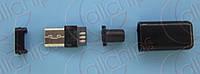 Разъем MicroUSB на кабель MCUSB-M-5P-5-B1 5pin Папа