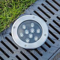 Світильник грунтовий QK-9LED 9W RGB 230V IP65  розмір 160мм * 90мм, фото 3