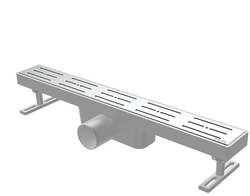 Душовий канал з решіткою з нержавіючої сталі NOVA 5102 (400 мм х 65 мм)