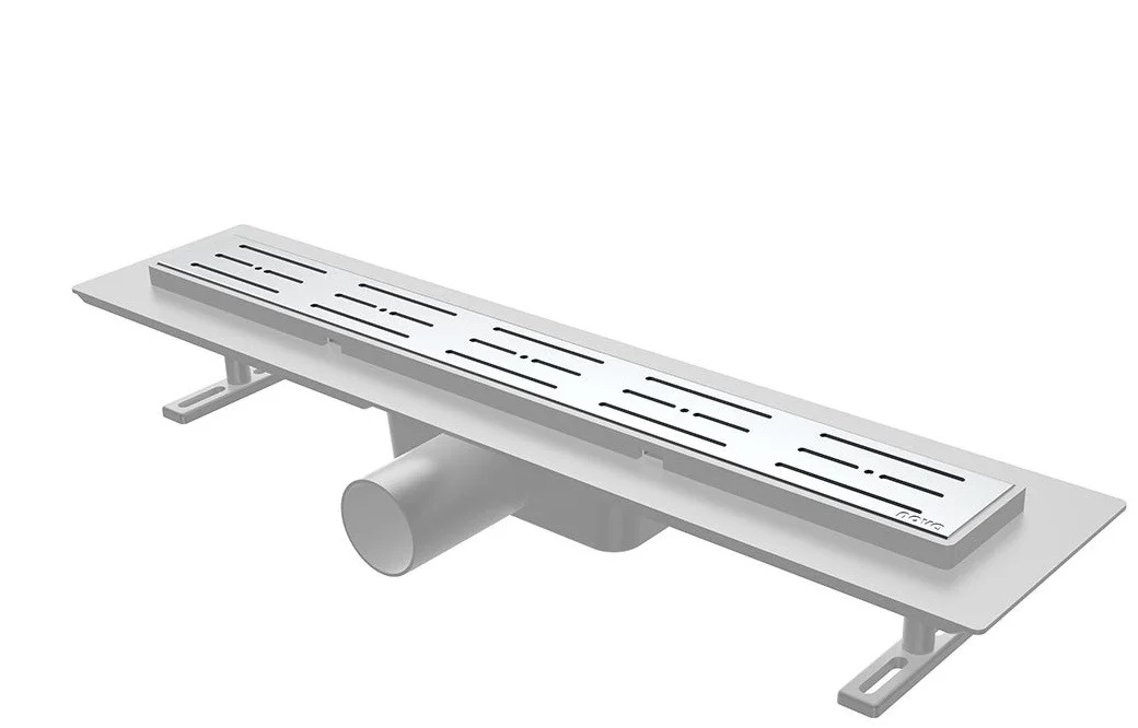 Душовий канал з решіткою з нержавіючої сталі з майданчиком під керамічну плитку NOVA 5201 (400 мм х 65 мм)