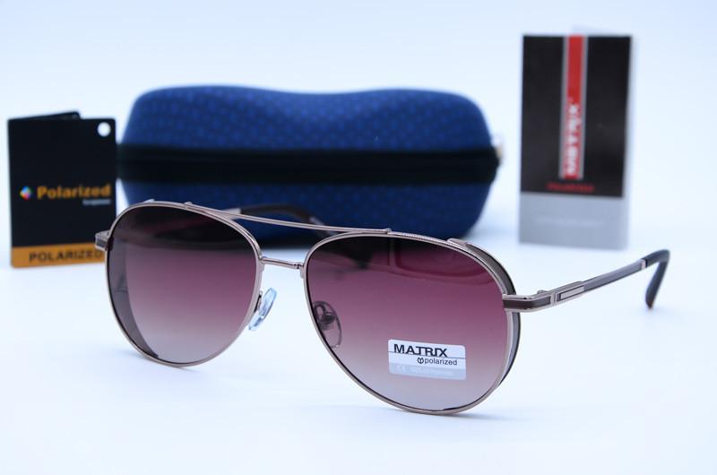 Солнцезащитные мужские очки Авиатор Matrix 8582 с8-Р78