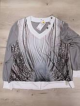 Блуза со стразами. 52-54