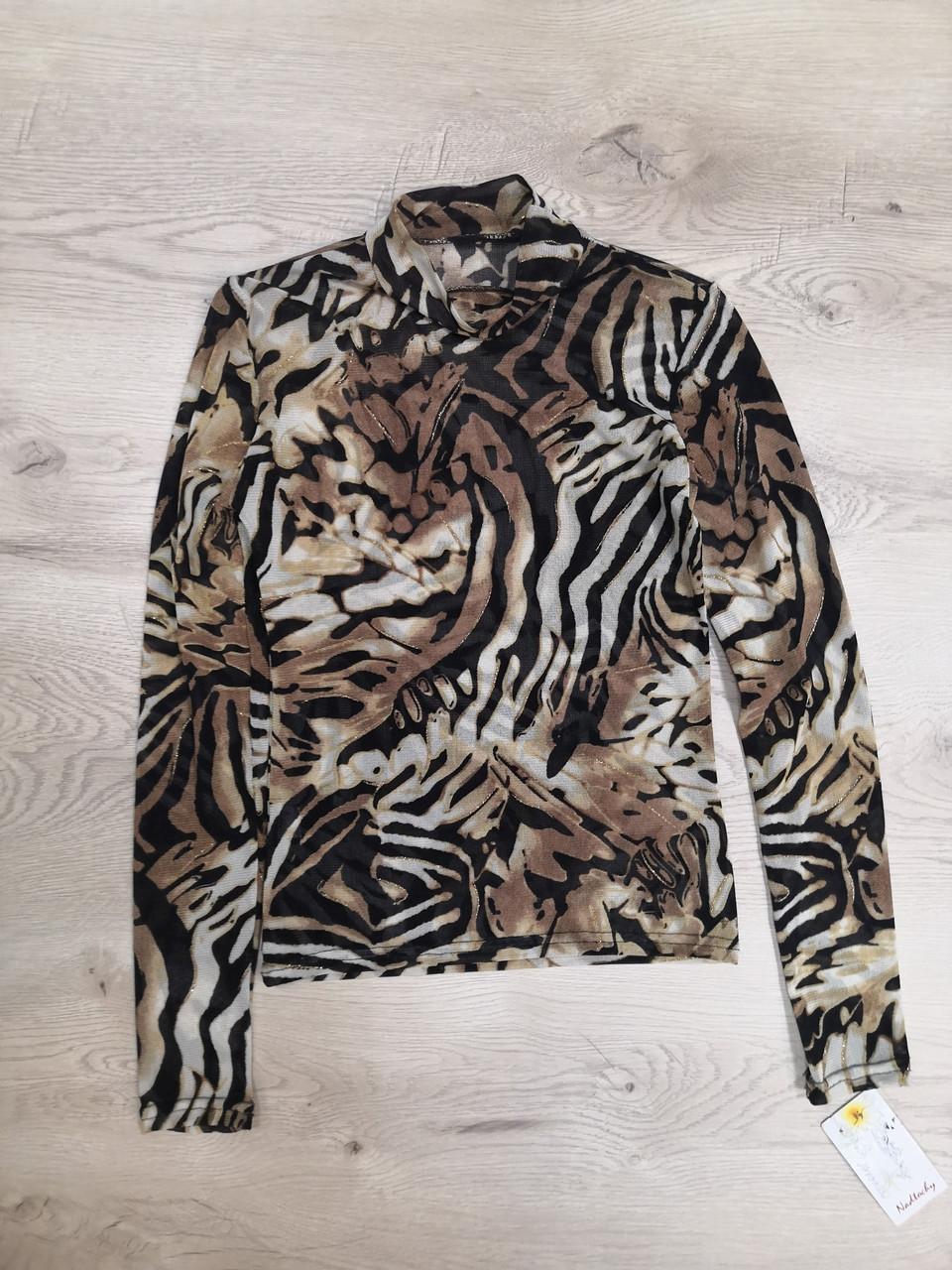 Гольф сетка тигр люрекс