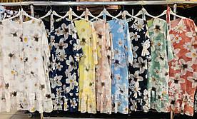 Платье шифоновое в цветы