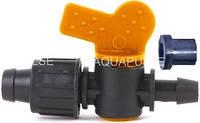 Кран стартовий краплинної стрічки 16-17 мм з гумкою вбудованої Aquapulse