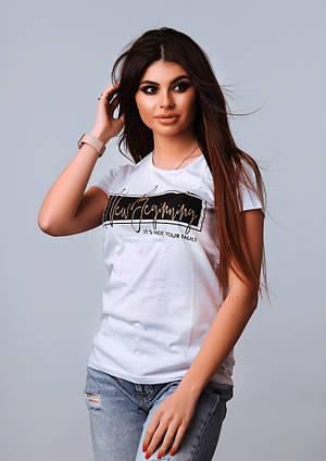 Женская стильная турецкая футболка Ф12 в расцветках