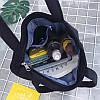 Эко-сумка черная с кроссовками, фото 2