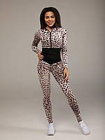 Спортивный комбинезон женский для фитнеса леопардовый Element
