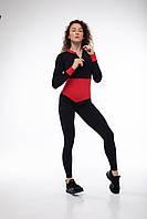 Комбинезон спортивный женский Bishop черный с красным