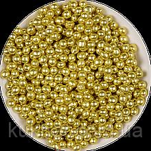 """Кульки декоративні """"Золоті"""" ø2 3г"""