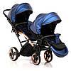 Детская универсальная коляска для двойни Junama Diamond Fluo Line Duo Slim, фото 2