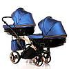 Детская универсальная коляска для двойни Junama Diamond Fluo Line Duo Slim, фото 3