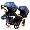 Детская универсальная коляска для двойни Junama Diamond Fluo Line Duo Slim, фото 4
