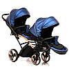 Детская универсальная коляска для двойни Junama Diamond Fluo Line Duo Slim, фото 5