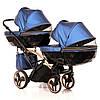 Детская универсальная коляска для двойни Junama Diamond Fluo Line Duo Slim, фото 9