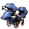 Детская универсальная коляска для двойни Junama Diamond Fluo Line Duo Slim, фото 7