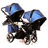 Детская универсальная коляска для двойни Junama Diamond Fluo Line Duo Slim, фото 8