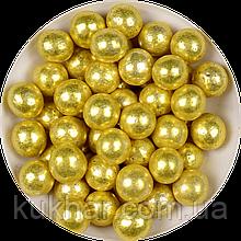 """Кульки декоративні """"Золоті"""" ø5 3г"""