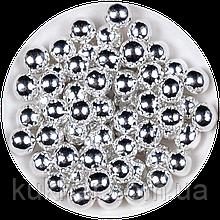 """Кульки декоративні """"Срібні"""" ø5 3г"""