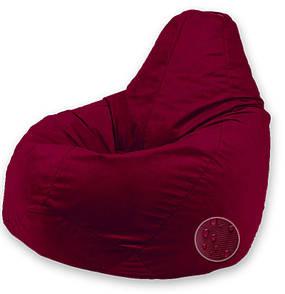 Кресло-груша Оксфорд Маленький размер S (90x60см), Бордовый