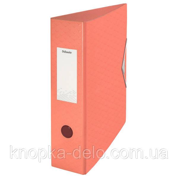 Папка-регистратор пластиковая Esselte Colour'ice, А4 82мм, цвет абрикос, арт.626216