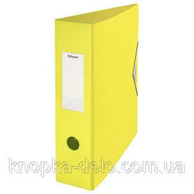 Папка-регистратор пластиковая Esselte Colour'ice, А4 82мм, цвет желтый, арт.626215