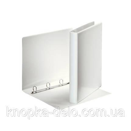 """Папка-панорама на 4 кольца РР А4 25 мм цвет """"белый"""" арт.49702, фото 2"""
