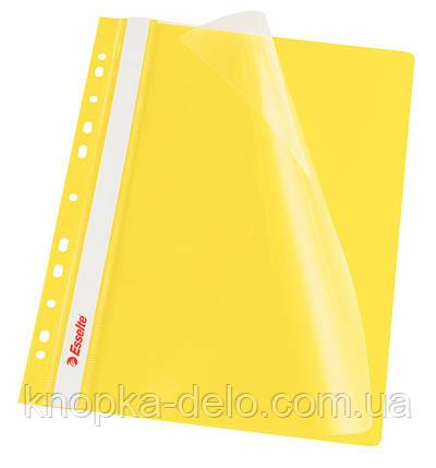 """Скоросшиватель Esselte VIVIDA А4 с прозрачным верхом и перфорацией, цвет """"желтый"""" в уп. по 10 шт арт. 13584, фото 2"""