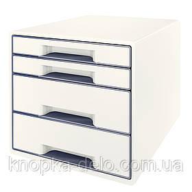 Настольный короб с 4 ящиками  WOW CUBE, белый, арт.5213-20-01